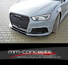 Cup Spoilerlippe SCHWARZ für Audi RS3 8VA Sportback Frontspoiler Schwert V2