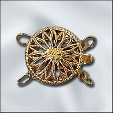 2-Strand Round GOLD-FILLED Filigree Clasp - Beautiful!