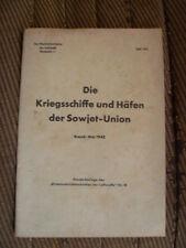 Répertoire des bateaux de guerre et des ports soviétiques - Doc. LUFTWAFFE 1942