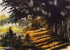 ORIGINAL Landscape  WATERCOLOR Painting JMW art John Williams Impressionism