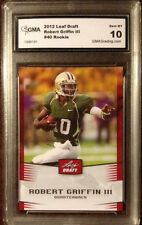 2012 LEAF DRAFT ROBERT GRIFFIN III  -  ROOKIE CARD - GMA GRADED 10