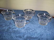 Four Vintage Party Glass Clear Fluted * for Punch Bowl?