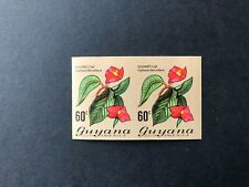 Guyana Flowers/Orchids 60c pair imperf mint