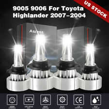 Replace 9005 9006 Led Headlight Bulbs For Toyota Highlander Chrysler Pt Cruiser