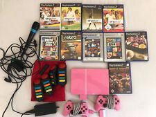 Sony PlayStation 2 Pink, 4 GB, mit Controllern, Spielen, BUZZer und Mikrofon