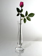 Time Tree Turkish Glass Footed Bud Vase Height 24cm Diameter 5cm
