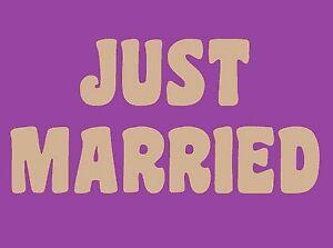 lettres en bois deco mariage - JUST MARRIED - Hauteur 20 cms