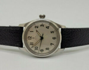 RARE VINTAGE ROLEX TUDOR OYSTER SILVER DIAL MANUAL WIND MAN'S WATCH