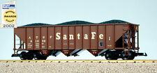 USA Trains G Scale 14002 70 TON 3 BAY COAL HOPPER Santa Fe - Mineral Brown