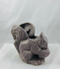 Vintage McCoy Art Pottery Figural Squirrel with Acorn Purple Matte Planter Pot