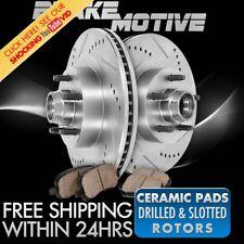 Front Drill Slot Brake Rotors +Ceramic Pads 91 - 2003 Chevy S10 GMC Jimmy Sonoma