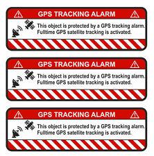 3x GPS Tracking Autocollant Alarme Avertissement anti vol Sticker Tracker sauvegardés