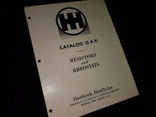 Vintage Hardwick Hindle Inc Catalog Gak Resistors Rheostats Rf Reactors 7 Pages