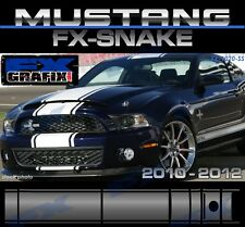 "2010 - 2012 Ford Mustang 21"" ""WIDE"" Snake Style Super Stripes #1 Quality Stripes"