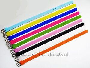 Mix color 10pcs 8mm silicone Bracelet/Wristband Fit DIY 8mm slider Letters/Charm