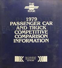 1979 Chevy Competitive Comapairson Dealer Album Camaro Caprice Monte Carlo Nova