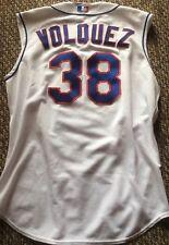 2006 Rangers Game Worn White Vest Jersey  No.38 ( Edinson Volquez)