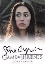 Oona Chaplin ++ Autogramm ++ Game of Thrones ++ James Bond ++ The Hour