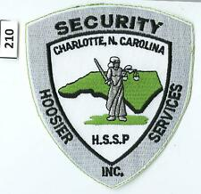 Dealer Dave Patches: HOOSIER SECURITY SERVICES, CHARLOTTE, NC, HSSP, NICE(210)