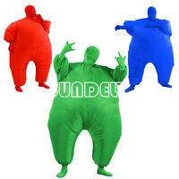 New Inflatable Fat Chub Suit Second Skin Fancy Dress Party Costume