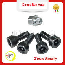 Wheel Lock Set Black Lug Bolts For BMW E32 E34 E90 E60 3 5 7er Mini 36136786419