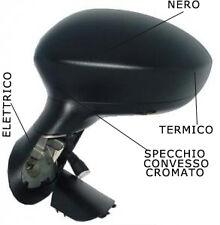 SPECCHIO SPECCHIETTO RETROVISORE SX FIAT GRANDE PUNTO 2005 IN POI ELET NERO TERM