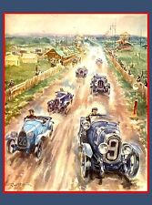 1923 24 Hours Le Mans French Automobile Race Vintage Travel Poster Print