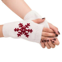 Wool Women Warm Soft Knitted Gloves Fingerless Gloves Mitten Winter Gloves