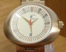 Mens XL Modern Retro Design Replay Torpedo Gold Bracelet Analog Watch RM3201FH