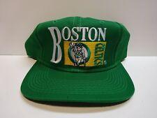 vintage BOSTON CELTICS Snapback Hat NEW Drew Pearson Chalk Line unworn