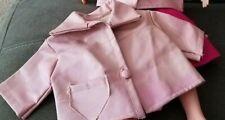 "2 Vintage Leather-Like Doll Jackets, Pink, Approx 5"" L x 6"" W"