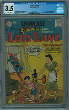 SHOWCASE #9 CGC 3.5 1ST LOIS LANE TRY OUT, HARD TO FIND IN ANY GRADE OW PGS 1957