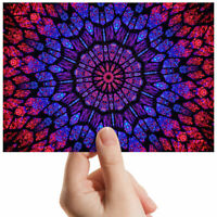 "Abstract Kaleidoscope Flower Small Photograph 6"" x 4"" Art Print Photo Gift #3018"