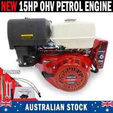 NEW 15HP Electric Start OHV Stationary Petrol Engine Horizontal Shaft