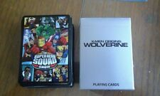COMIC CON WOLVERINE X-MEN ORIGINS SUPERHERO SQUAD PACK PLAYING CARDS MARVEL DC