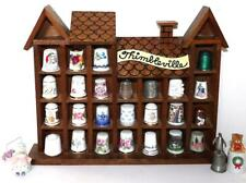 Vintage THIMBLE COLLECTION with Display Rack 28 thimbles