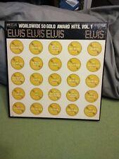 ELVIS PRESLEY RARE MONO 4 LP BOX SET Worldwide 50 GOLD AWARD HITS VOL 1 EX to NM