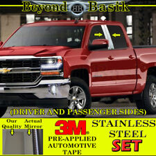 2014-2018 Chevy Silverado GMC Sierra Double/Crew Cab STAINLESS STEEL Pillar Post