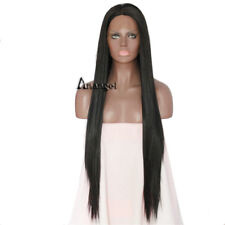 Anogol Long Remy Straight Women Black Lace Front Wig Synthetic Hair Natural Wigs
