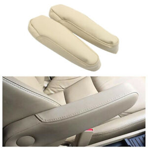 Pair Car Seat Armrest Hand Rest Cover Lid Trim PU Leather For Honda Odyssey05-10