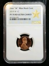 """2019 W Lincoln First """"W"""" Mint Mark Cent NGC PF70 RD Ultra Cameo STAR West Point"""