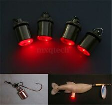 HQ LED Deep Drop Underwater Fishing Squid Fish Lure Light Flashing Lamp Red