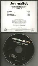 JOURNALIST w/ M.O.P. Extended Family CLEAN & INSTRUMENTAL & ACAPELLA PROMO CD