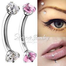 Titanium Crystal Eyebrow Lip Ring Hoop Bar Barbell Ear Helix Awl Bar Piercing