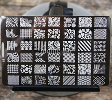 Large Nail Art Image Stamp Template Plates Polish Stamping Manicure Image (D18)