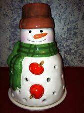 Snowman votive tea light candle burner winter CHRISTmas home decoration 2 piece