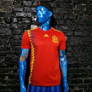 Spain Team Jersey Home football shirt 2017 - 2019 Adidas CX5355 Mens Size S UA1