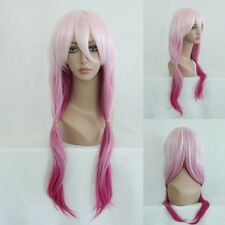Ladieshair Cosplay Wig Parrucca Rosa 70cm ondulata Guilty Crown Yuzuriha Inori GTC