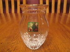 """Beautiful Marquis By Waterford Crystal Hanover Gold 4"""" Posy Bud Vase With Label"""