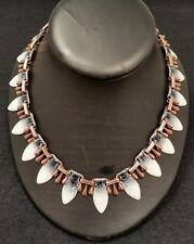 American copper Art Jewellery enamelled Necklace.By Matisse Renoir. Circa 1950's